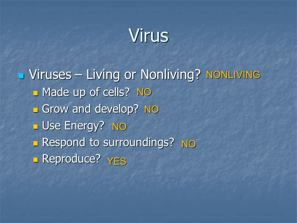 is a flu virus living or nonliving