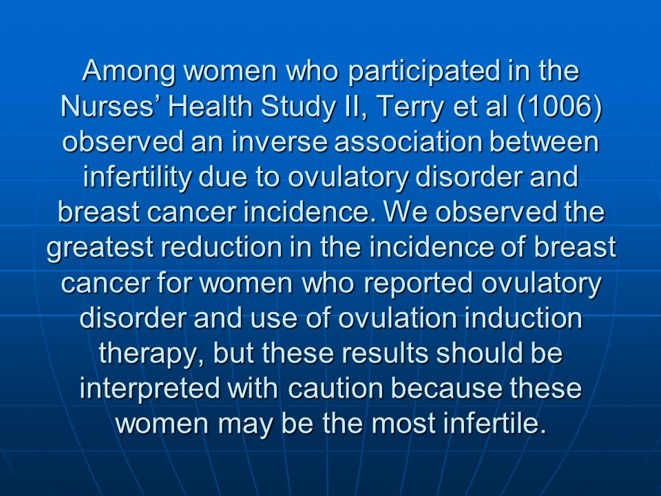 infertility research clomid breast cancer