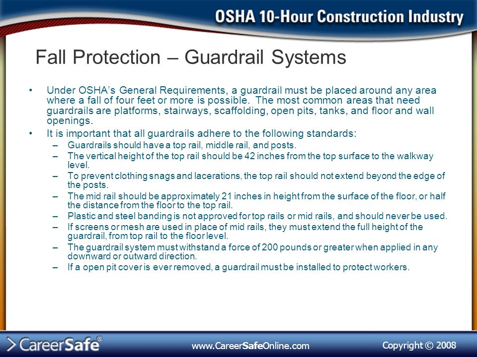 Copyright © Fall Protection, Subpart M  - ppt download