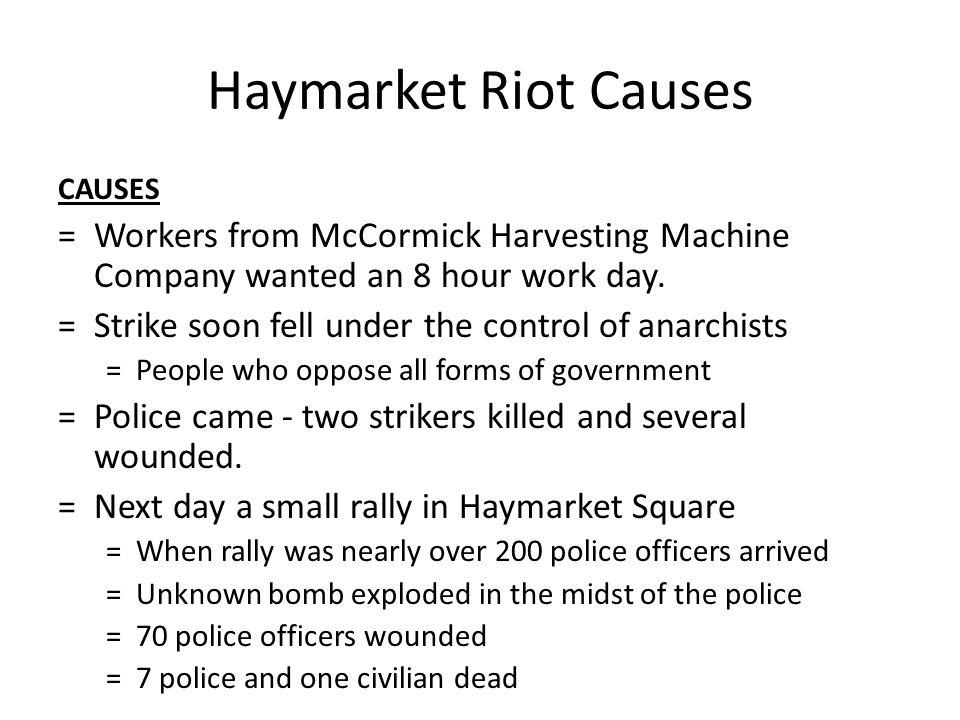 Mccormick Harvesting Machine Company Strike