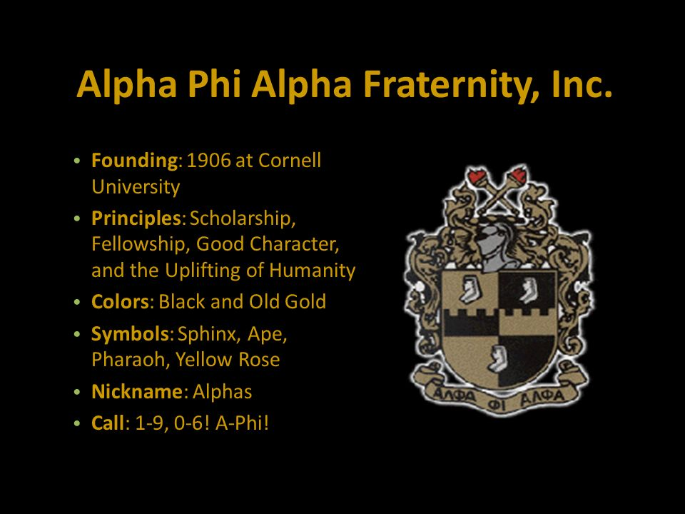Alpha Phi Alpha Fraternity Inc Founding 1906 At Cornell