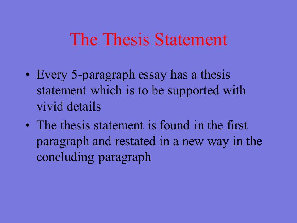 5 paragraph structure