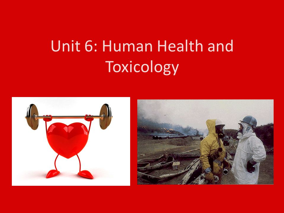 Unit 6: Human Health and Toxicology