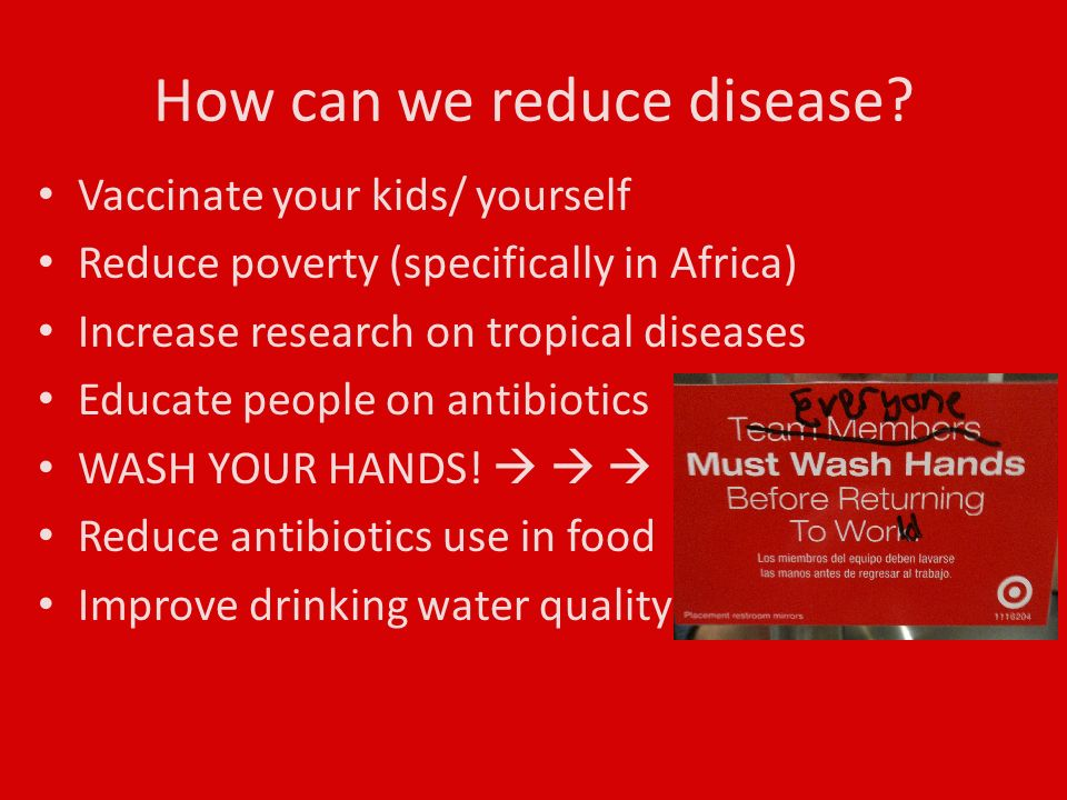 How can we reduce disease.