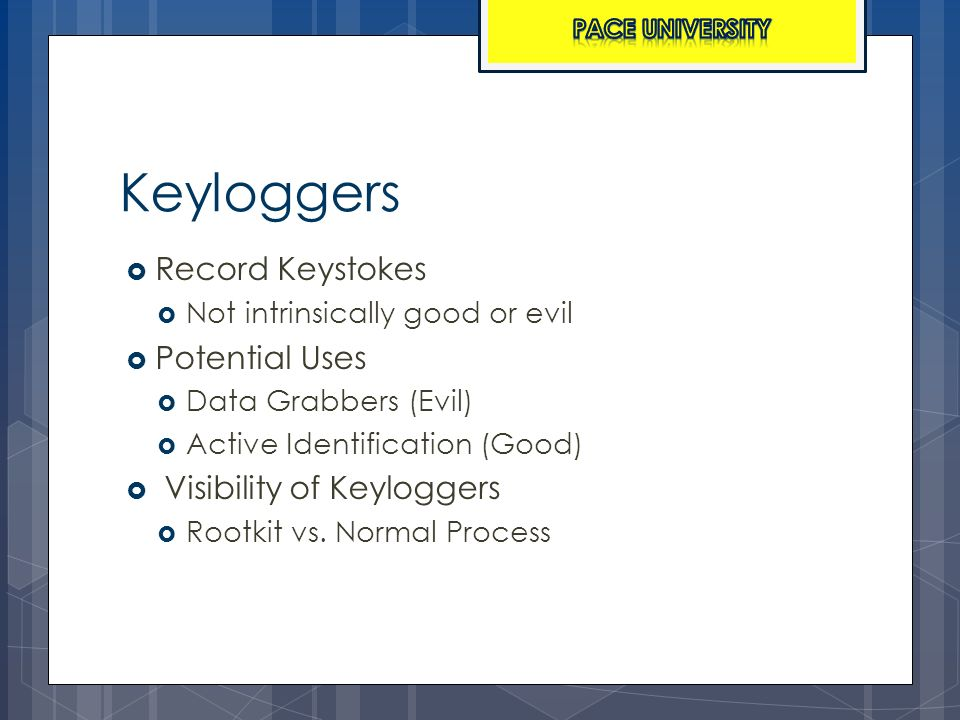 Analysis of the Fimbel Keylogger and Pace University Converter