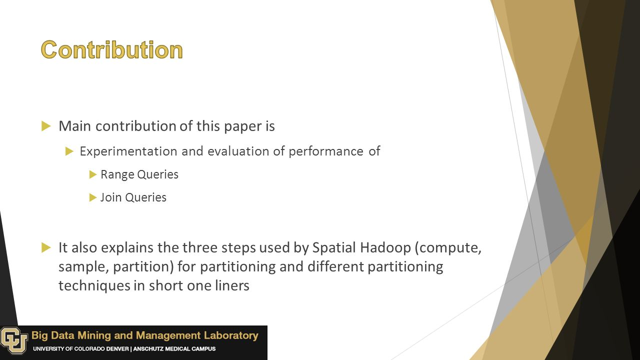 Type:Research Paper (Experimental evaluation) Authors: Ahmed Eldawy
