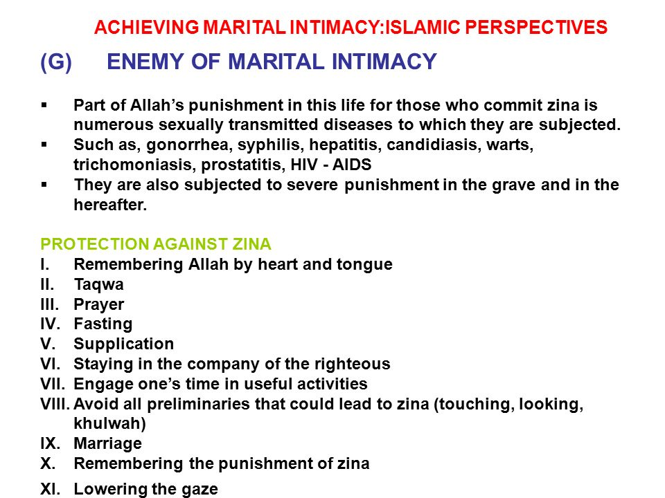 Islam sexually transmitted diseases