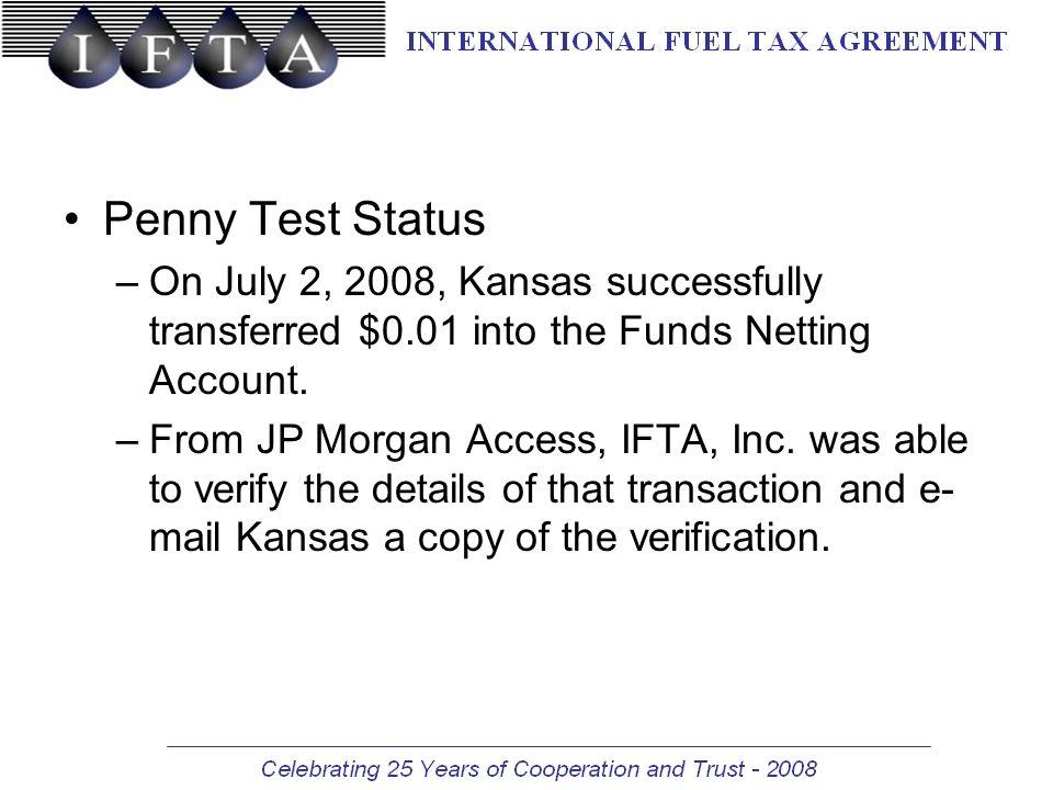 IFTA, Inc  Clearinghouse Funds Netting Account JP Morgan