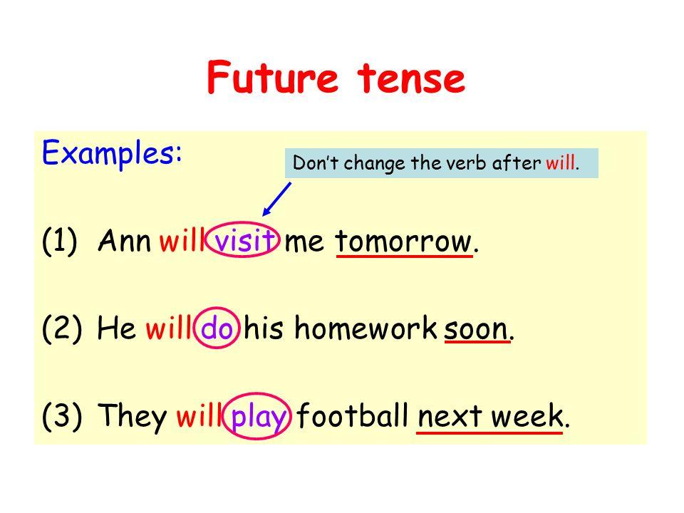 Future tense Primary 4  Future tense When we talk about