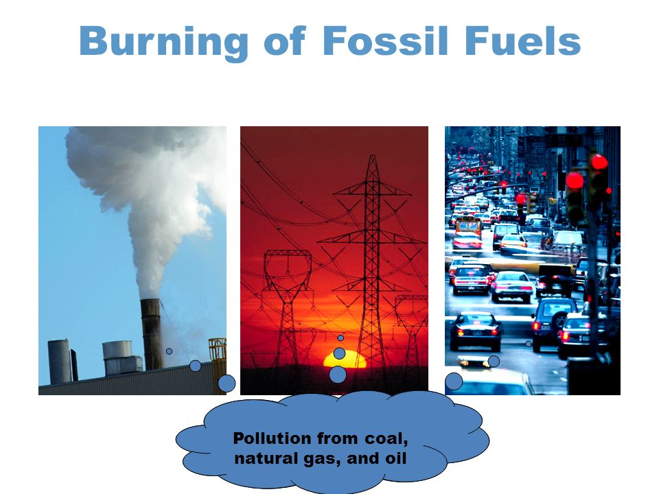 Burning of Fossil Fuels Pollution from coal, natural gas, and oil