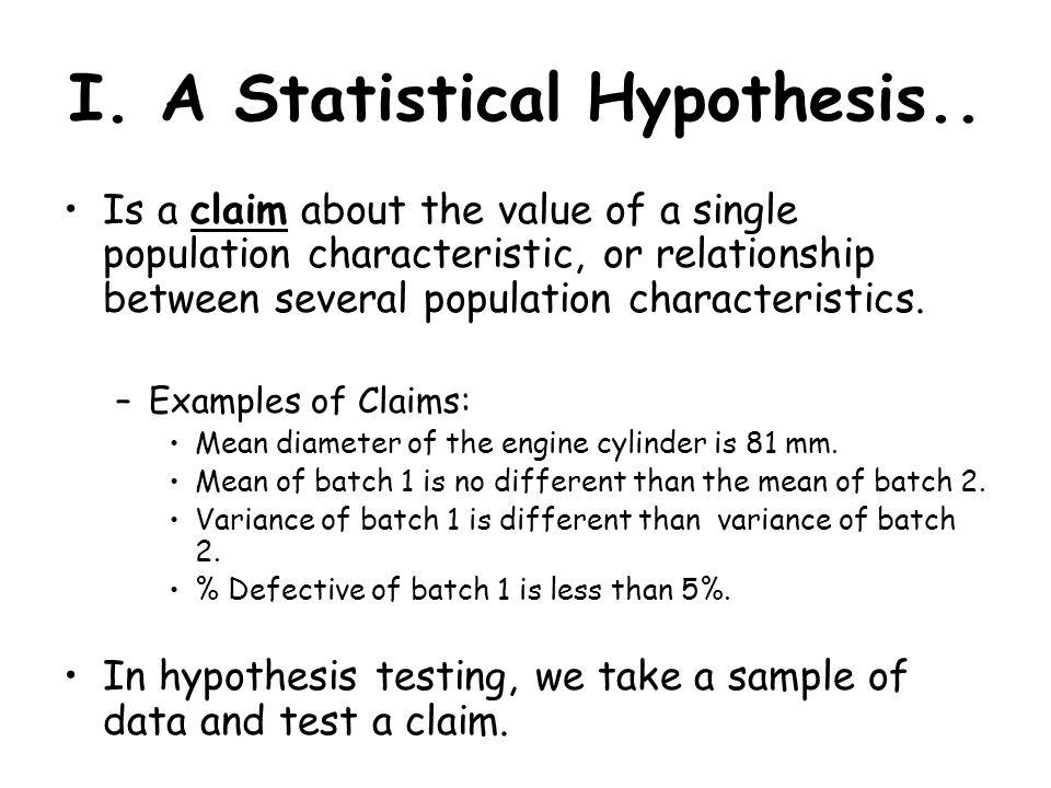 claim of value example topics
