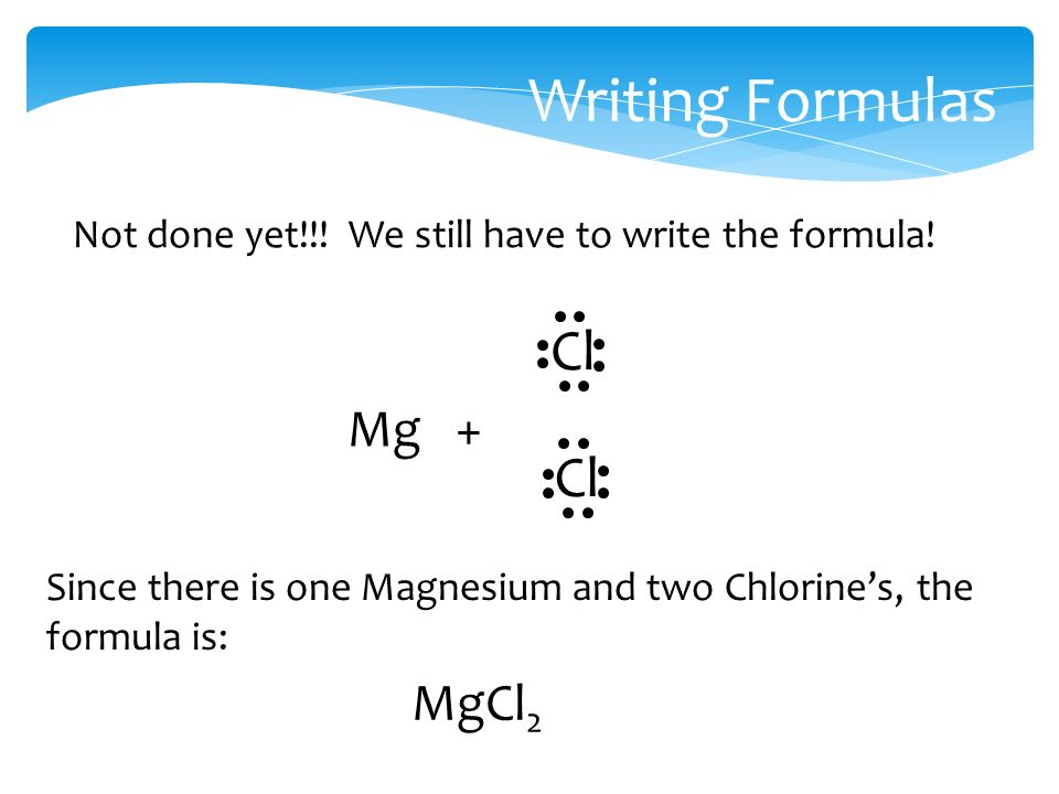 Writing Formulas Not done yet!!. We still have to write the formula.