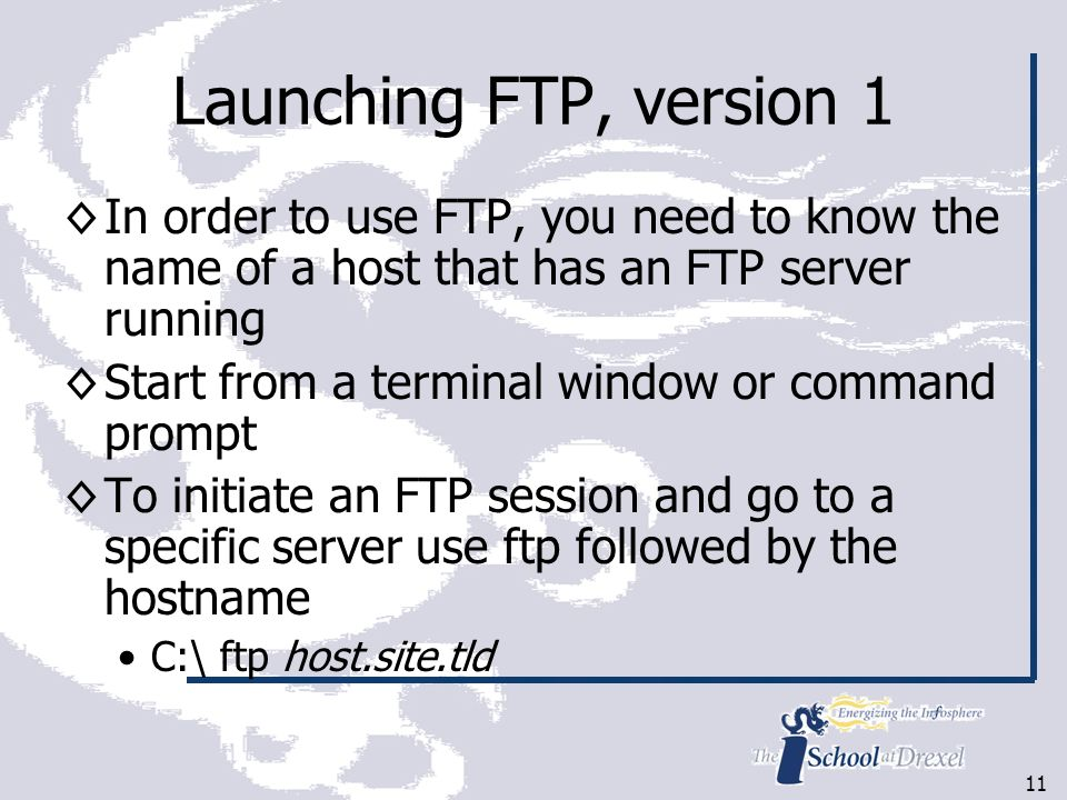 1 INFO 321 Server Technologies II FTP Material adapted from