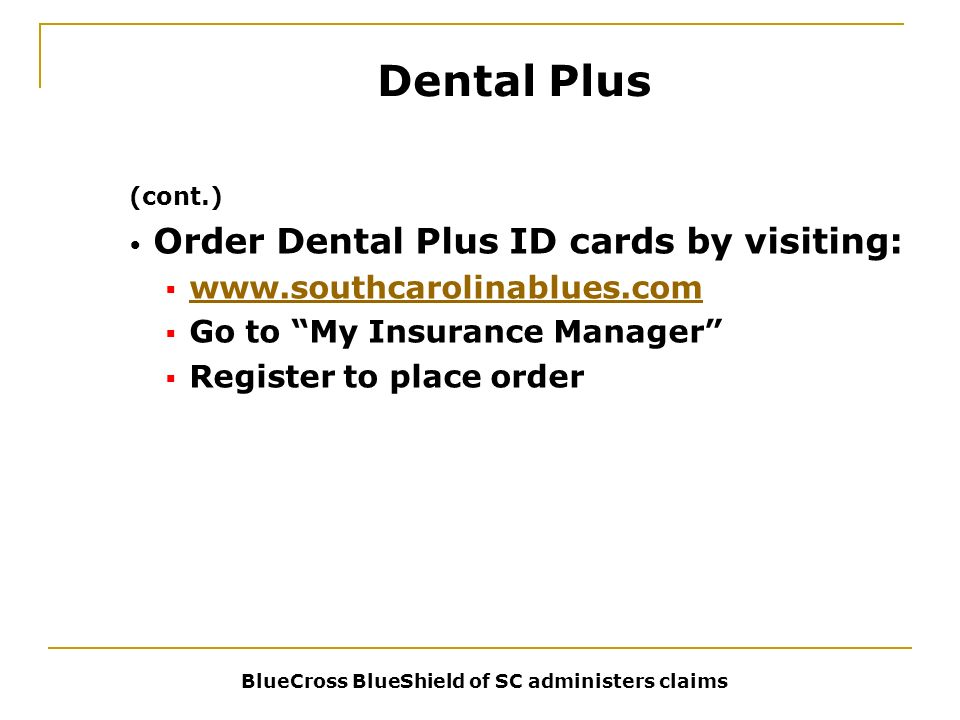 My Insurance Manager >> State Dental Plan Insurance Education Part 3 Features Self