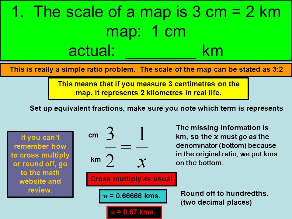 Homework Help Step by Step help for homework sheet on ratios in maps ...