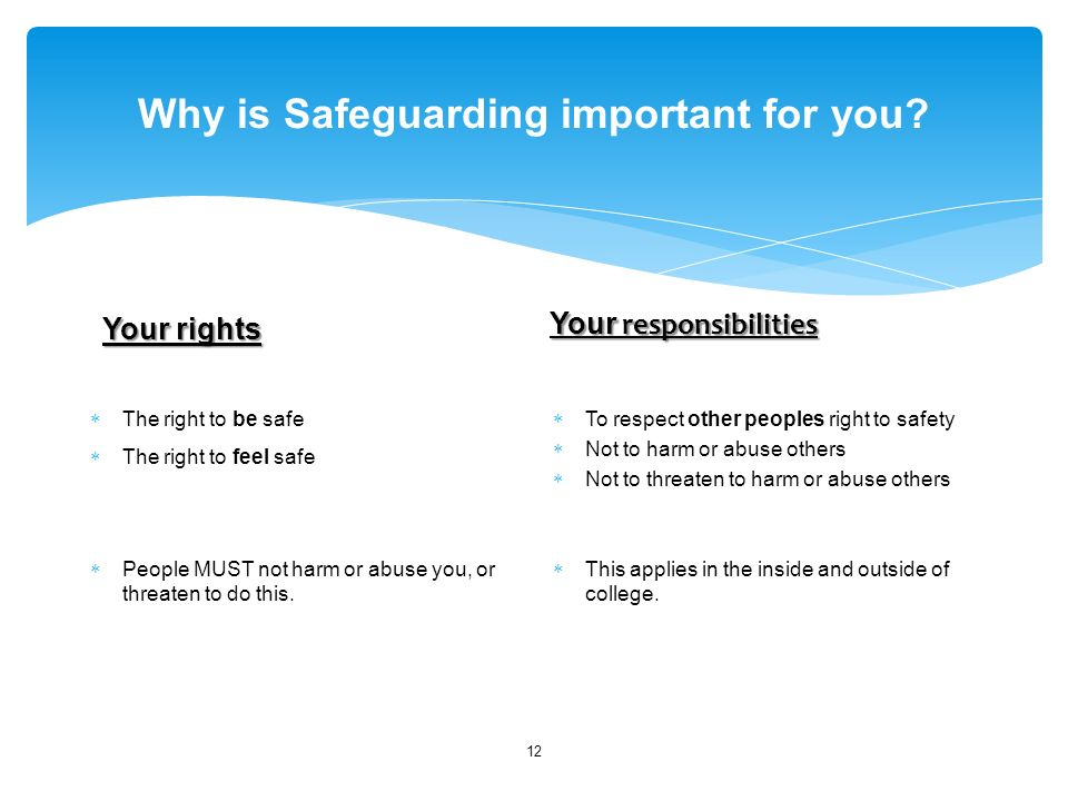 Why is Safeguarding important for you.