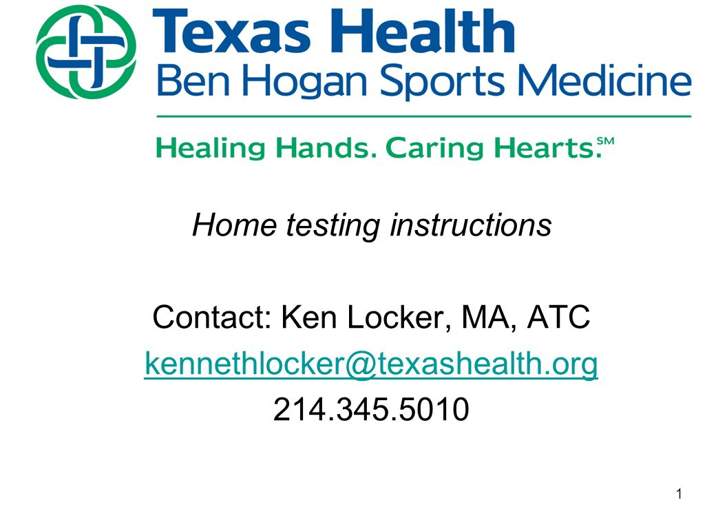 Home Testing Instructions Contact Ken Locker Ma Atc Ppt Download
