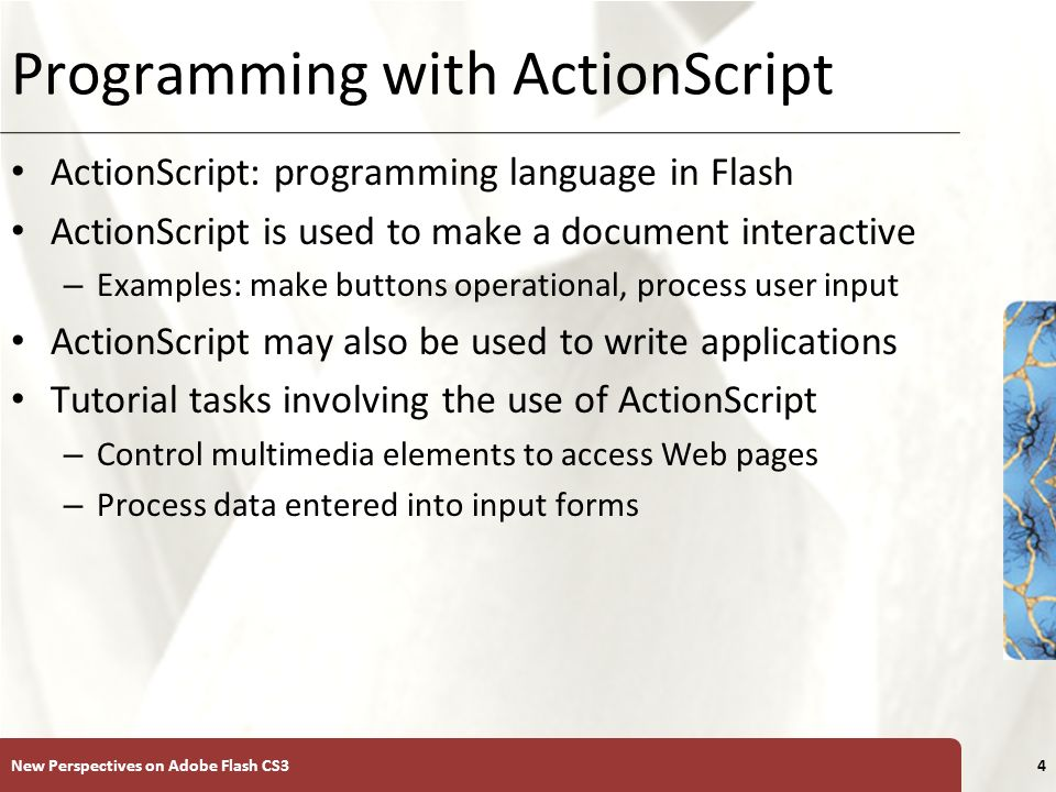 Tutorial 8 Programming with ActionScript 3 0  XP Objectives