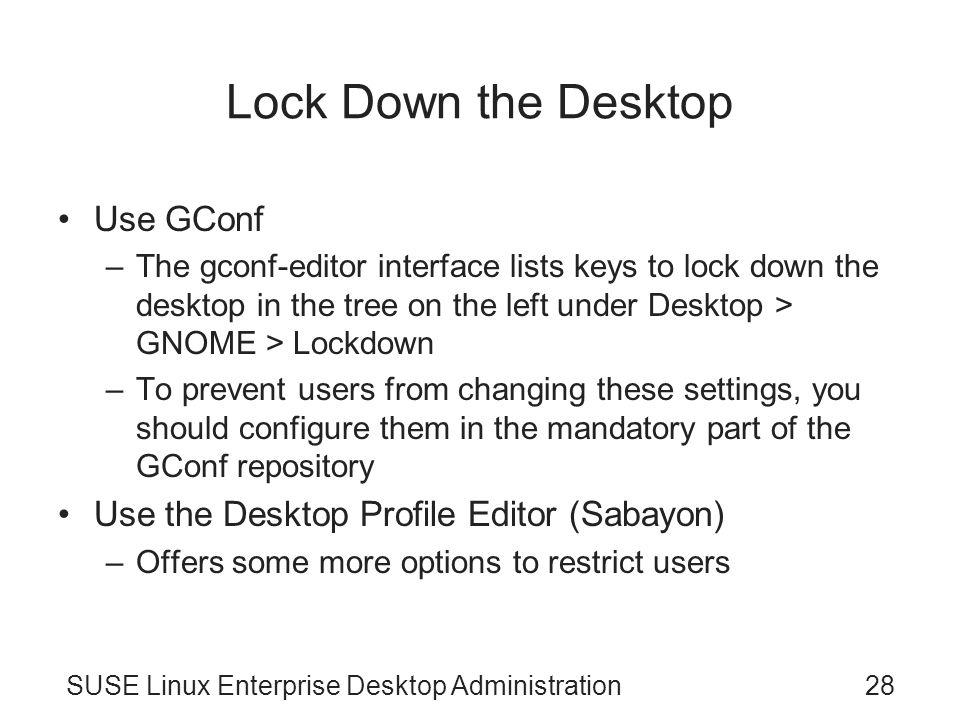 SUSE Linux Enterprise Desktop Administration Chapter 14