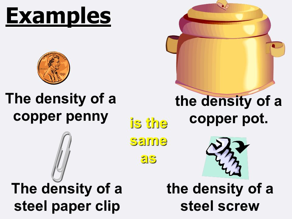 Density Definition The Relationship Between Mass And Volume