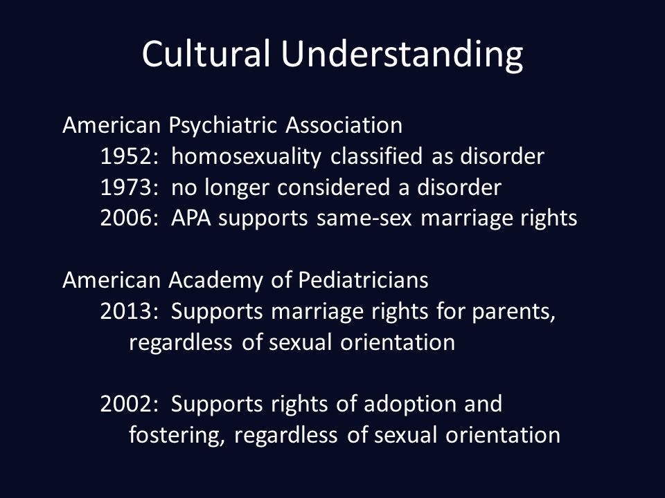 American academy of pediatrics homosexuality