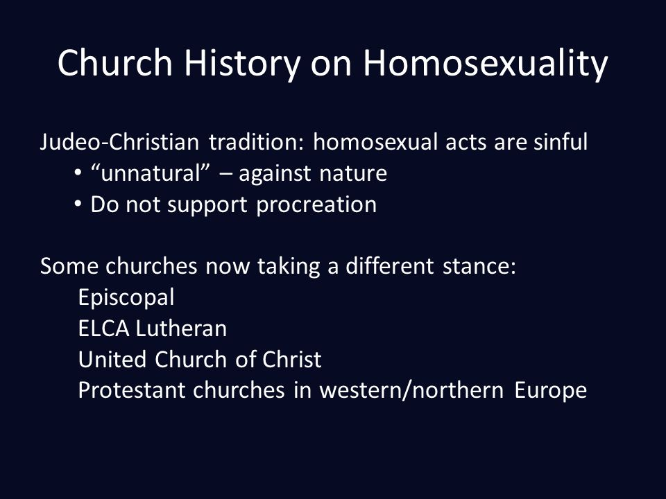 Elca beliefs homosexuality and christianity