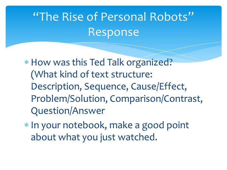 essay on robot