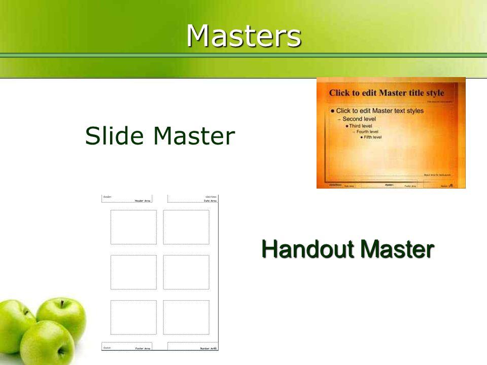 Advanced PowerPoint Agenda Slide Masters Hyperlinks Animation
