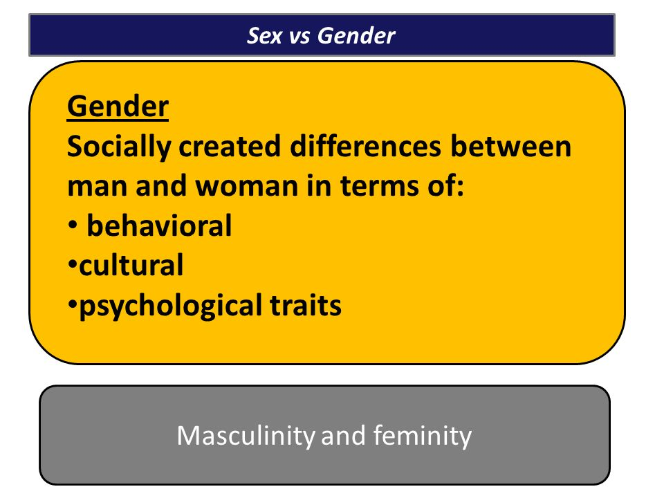 The difference between sex and gender 5