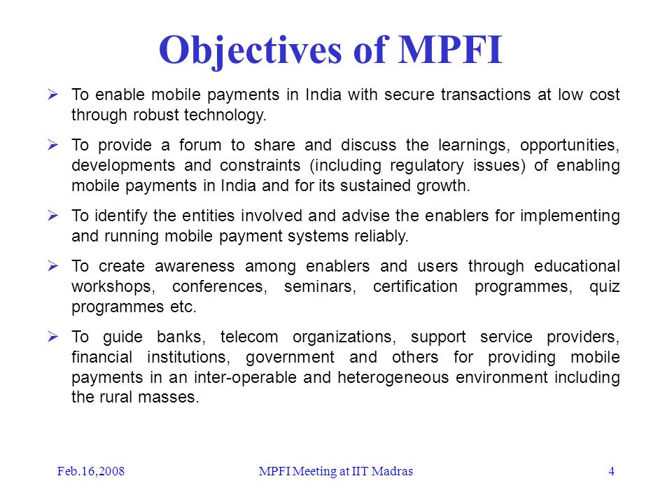 objectives of mobile banking
