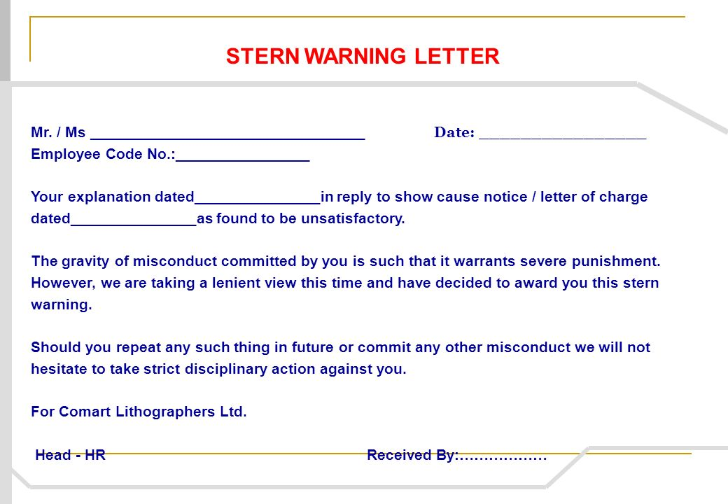 Show Cause Letter Reply