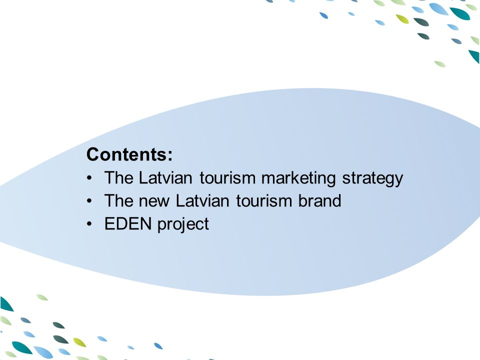 PPT template Latvija Marketing of tourism in Latvia - the