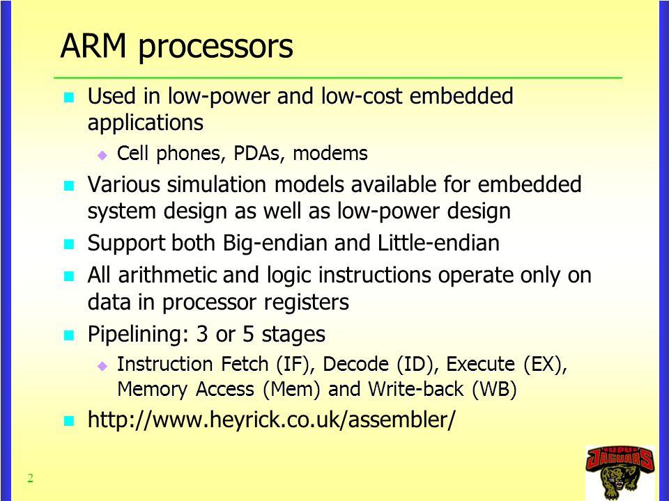 Chapter 3-1 ARM ISA ARM Instruction Set Architecture ARM Instruction