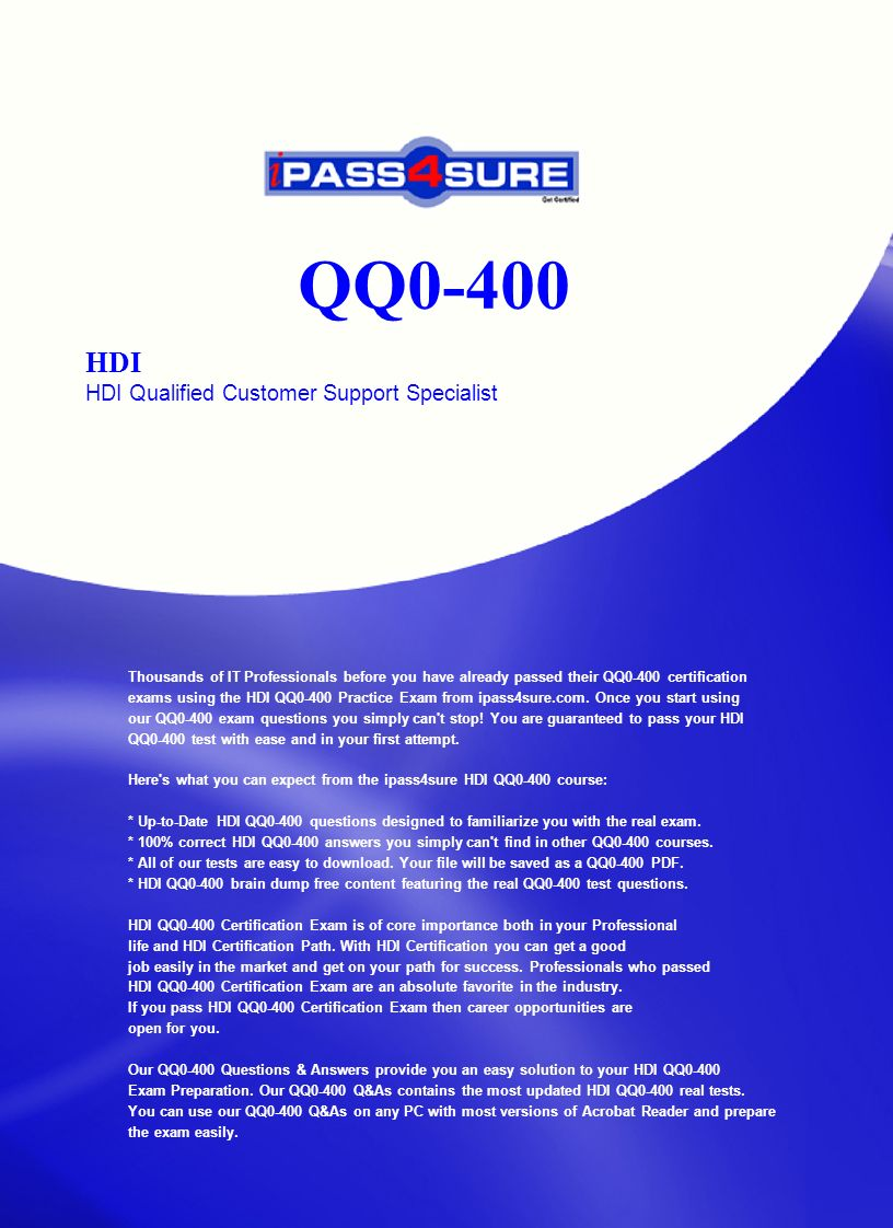 Qq0 400 Hdi Hdi Qualified Customer Support Specialist Thousands Of