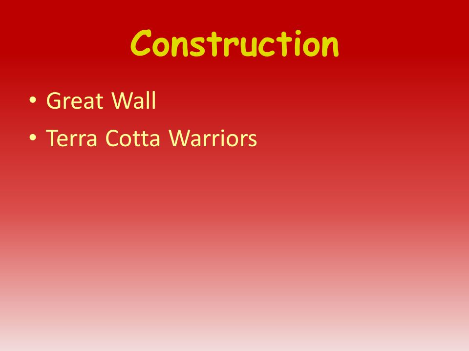 Construction Great Wall Terra Cotta Warriors