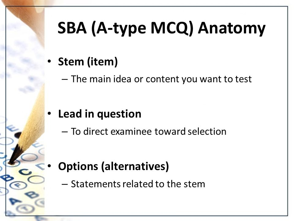 Objectives To Know Basic Concepts And Rationale Of Mcq To Know