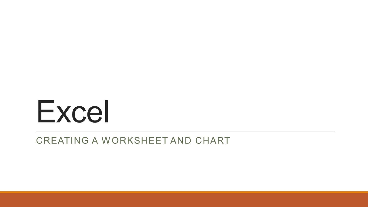 excel creating a worksheet and chart personal budget worksheet we