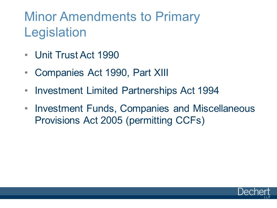 investment funds companies and miscellaneous provisions act