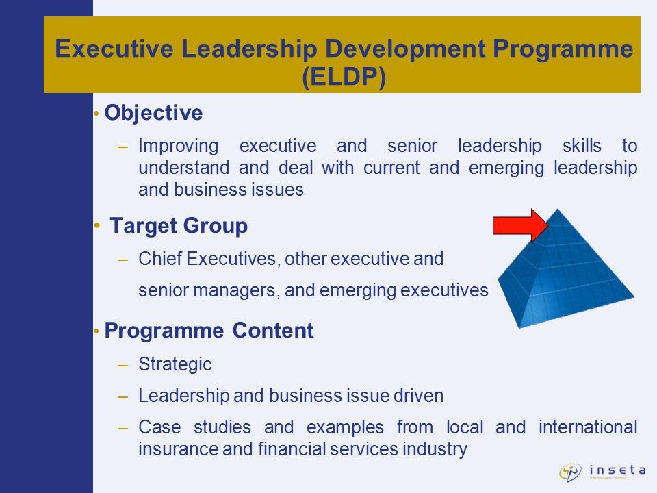 Executive Leadership Development Programme Eldp Leadership