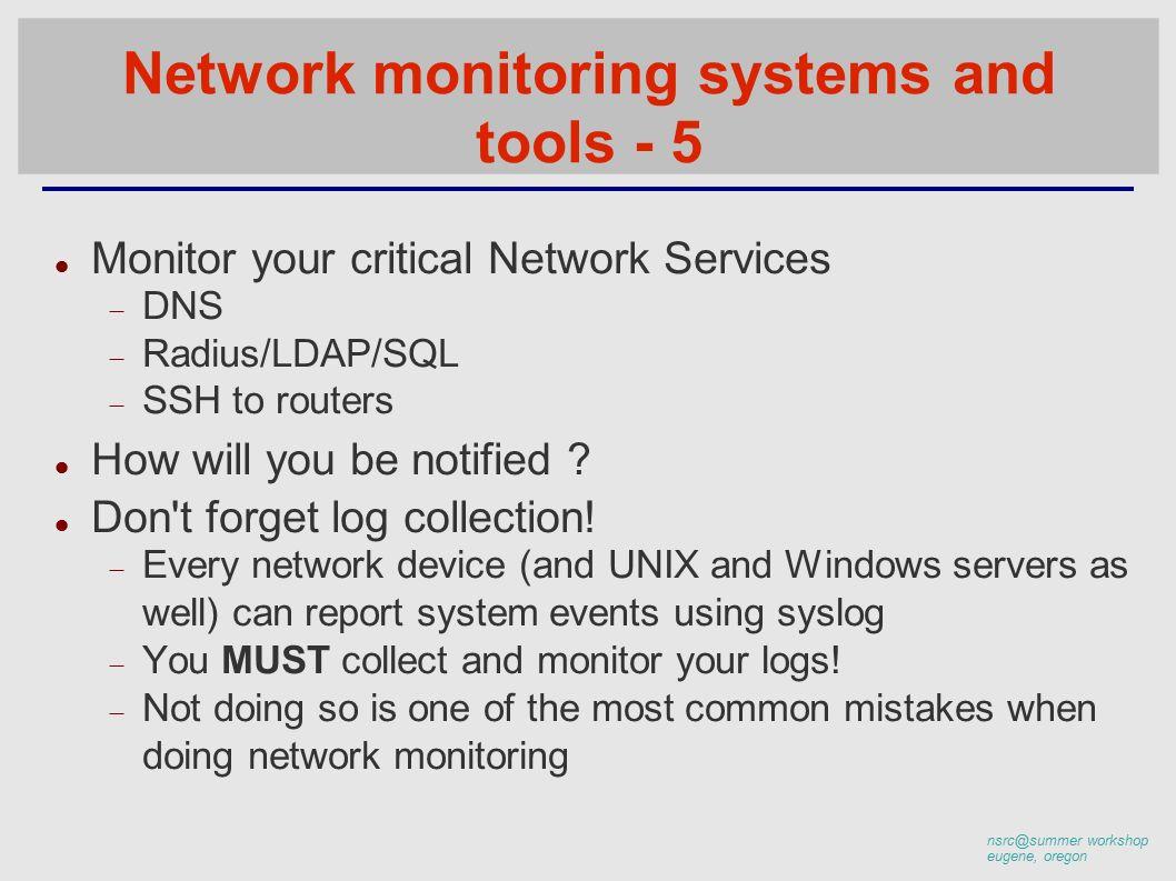 workshop eugene, oregon What is network management? System & Service