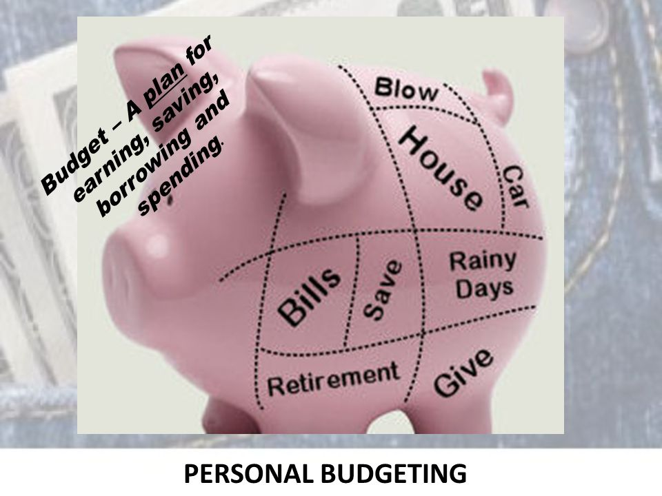 PERSONAL BUDGETING Budget – A plan for earning, saving, borrowing and spending.