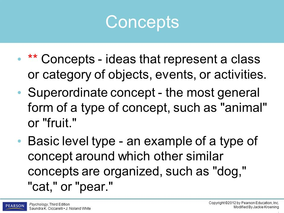 Psychology CHAPTER 7 Copyright 2012 By Pearson Education