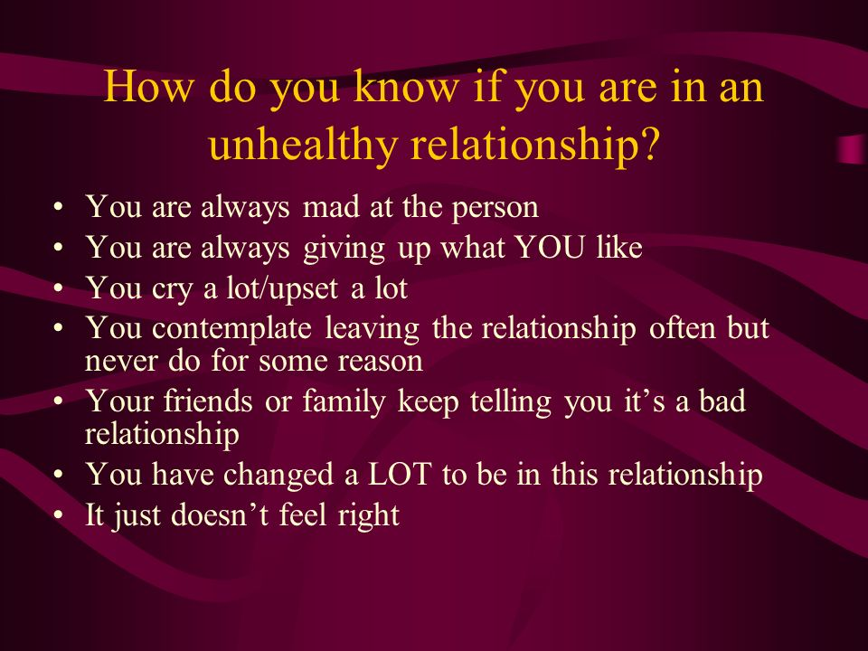 How To Know If You Are In A Bad Relationship