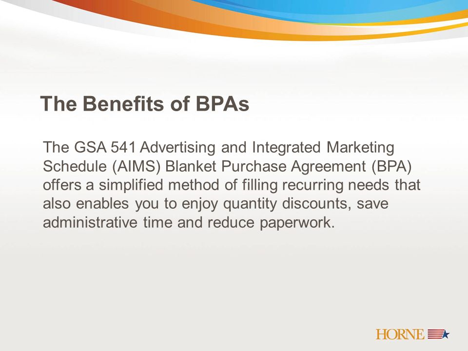 How A Blanket Purchase Agreement Bpa Can Help You Ppt Download