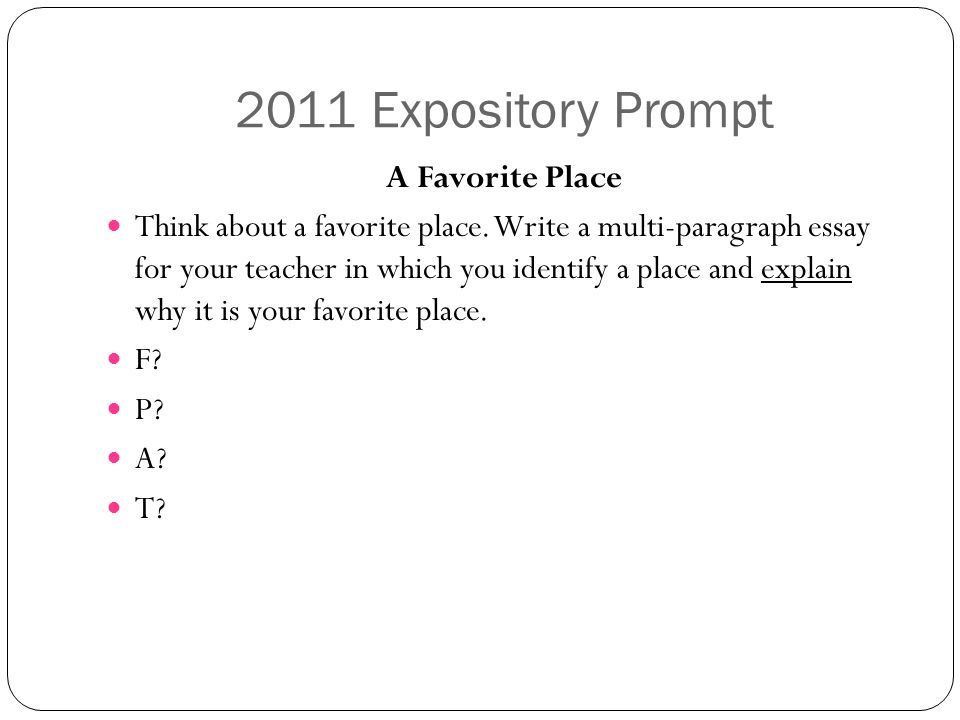 essay about your favorite place