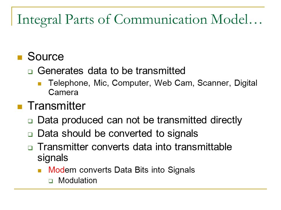 parts of communication model