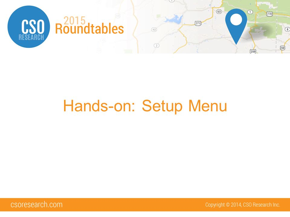 hands on setup menu what we will cover access to setup codes memos