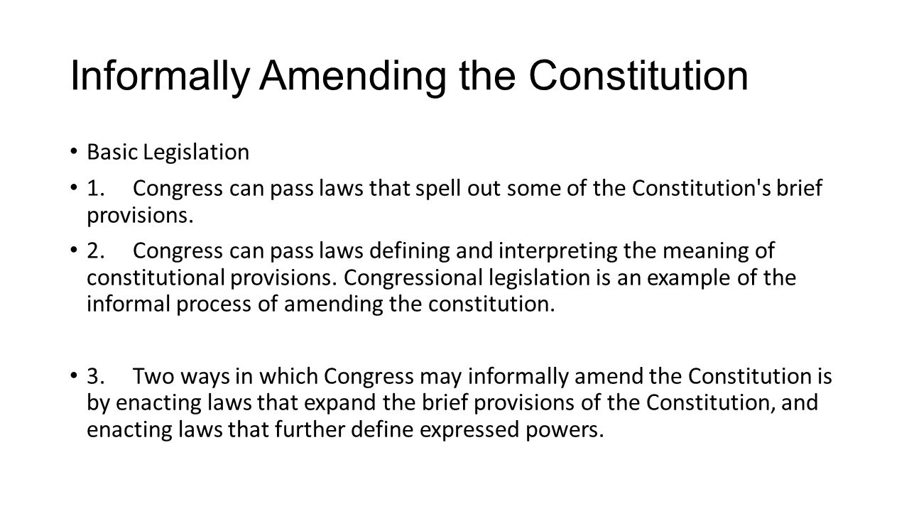 amending the constitution. what in our country has changed? when