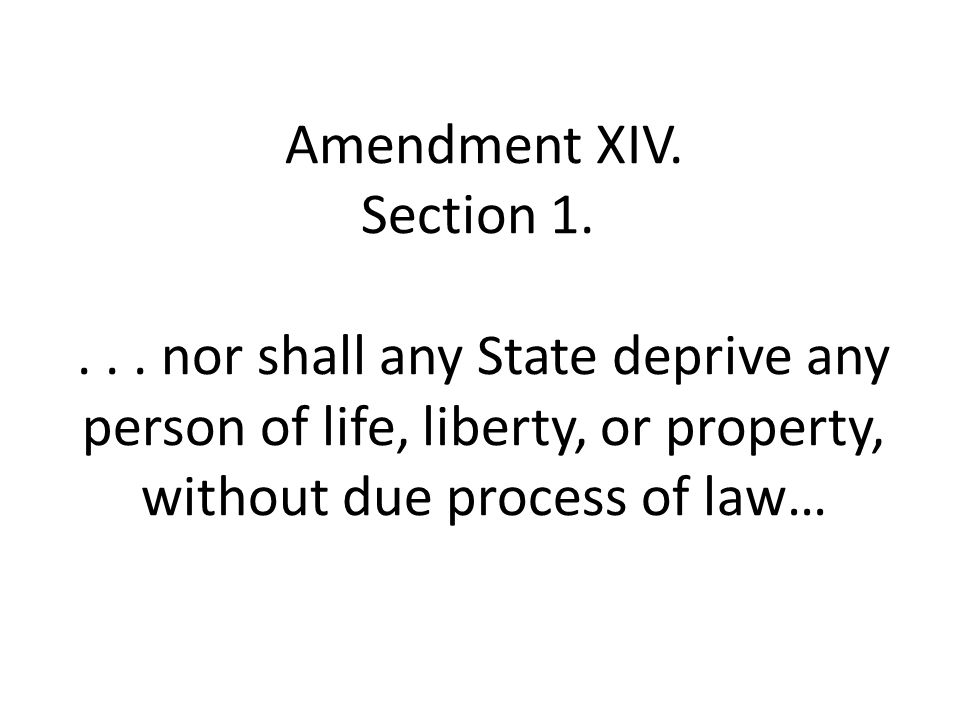 Amendment XIV. Section
