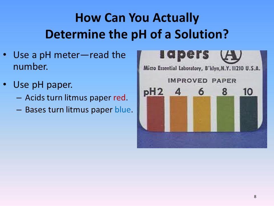 ph determination methods